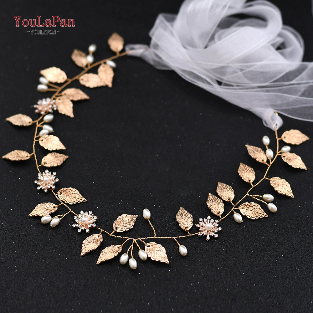 Купить с кэшбэком YouLaPan SH110 Golden Women Belt Alloy Leaves Wedding Belt Sash Bridal Belts Golden Floral Bridal Sash Wedding Dress Accessories