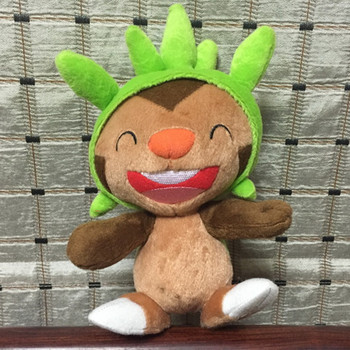 TAKARA TOMY Pokemon Cartoon Chespin Plush Toy Dolls 22cm Cute Kid Birthday Gift image