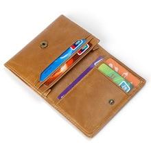 Genuine leather Man card holder wallet European style rfid wallet Vintage Short card case Cow Leahter Business Men Cardholder