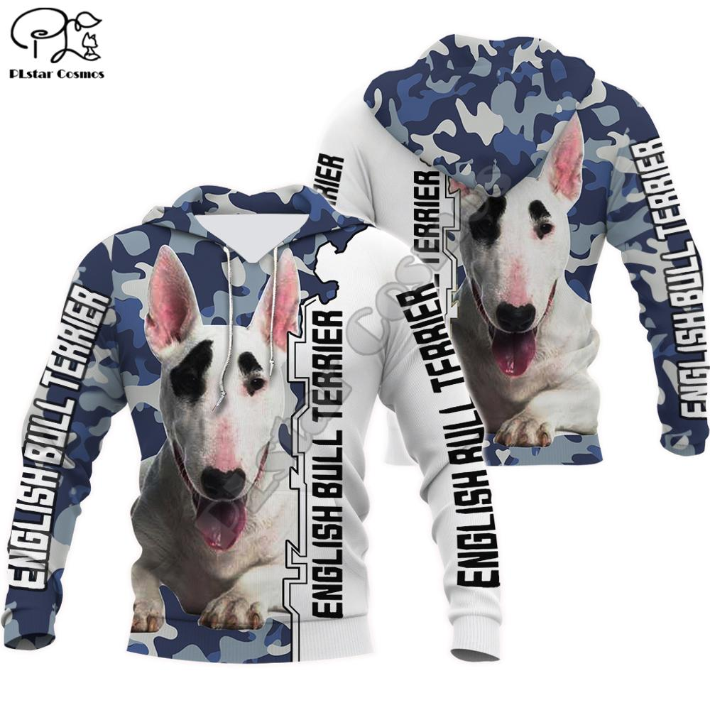 Men Women English Bull Terrier Limited Edition 3d Print Zipped Hoodie Long Sleeve Sweatshirts Jacket Pullover Tracksuit