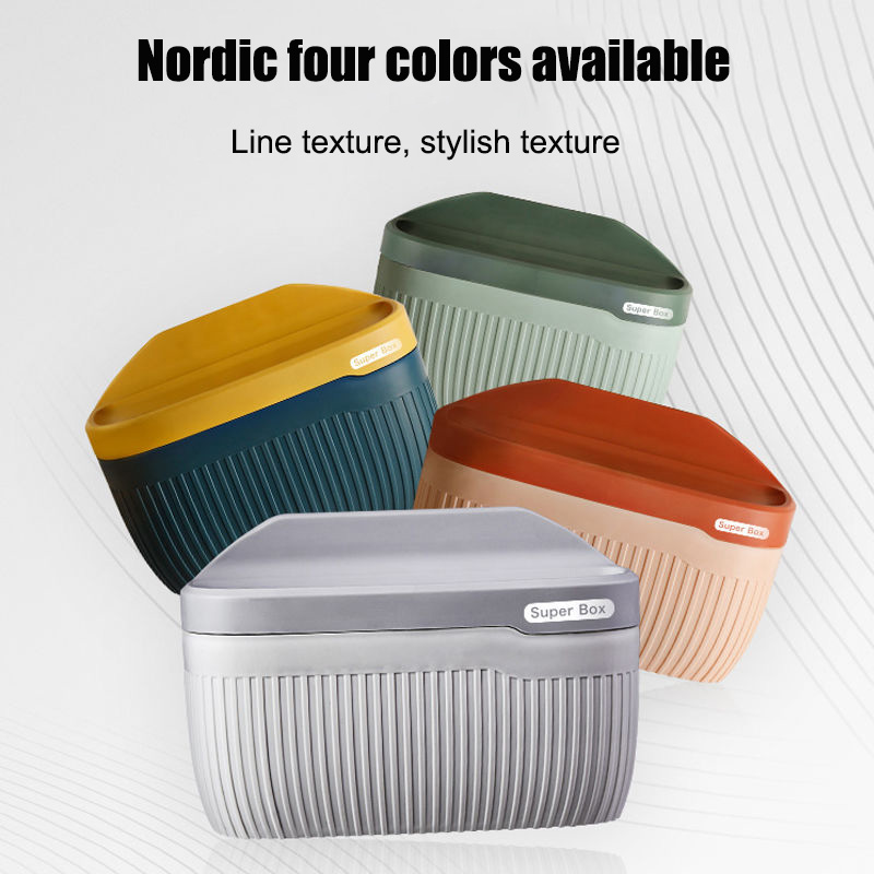 Toilet tissue box toilet living room wall-mounted pumping tissue box roll holder free punching Nordic car box