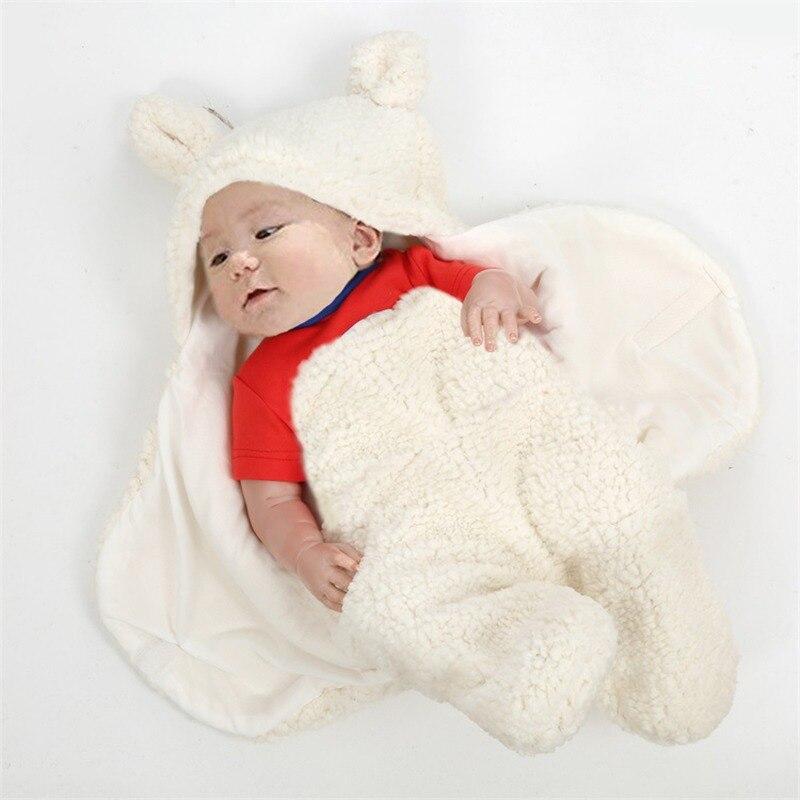Winter Newborn Baby Swaddle Wrap Cotton Warm Soft Infant Wrap Blanket Sleepsack Blanket & Swaddling Cartoon