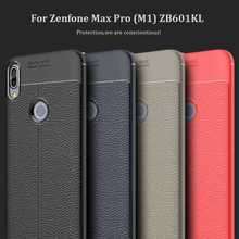 Mokoemi Lichee Pattern Shock Proof Soft 5.99For Asus Zenfone Max Pro ZB601KL Case For Asus Zenfone Max Pro M1 Phone Case Cover qijun brand glitter bling flip stand case for asus zenfone max m1 zb555kl plus pro m1 zb601kl zb570tl wallet phone bag cover