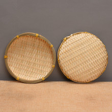 Small bamboo basket drying tea sifter hand woven bamboo dustpan dim sum basket mini dry fruit plate photography  props