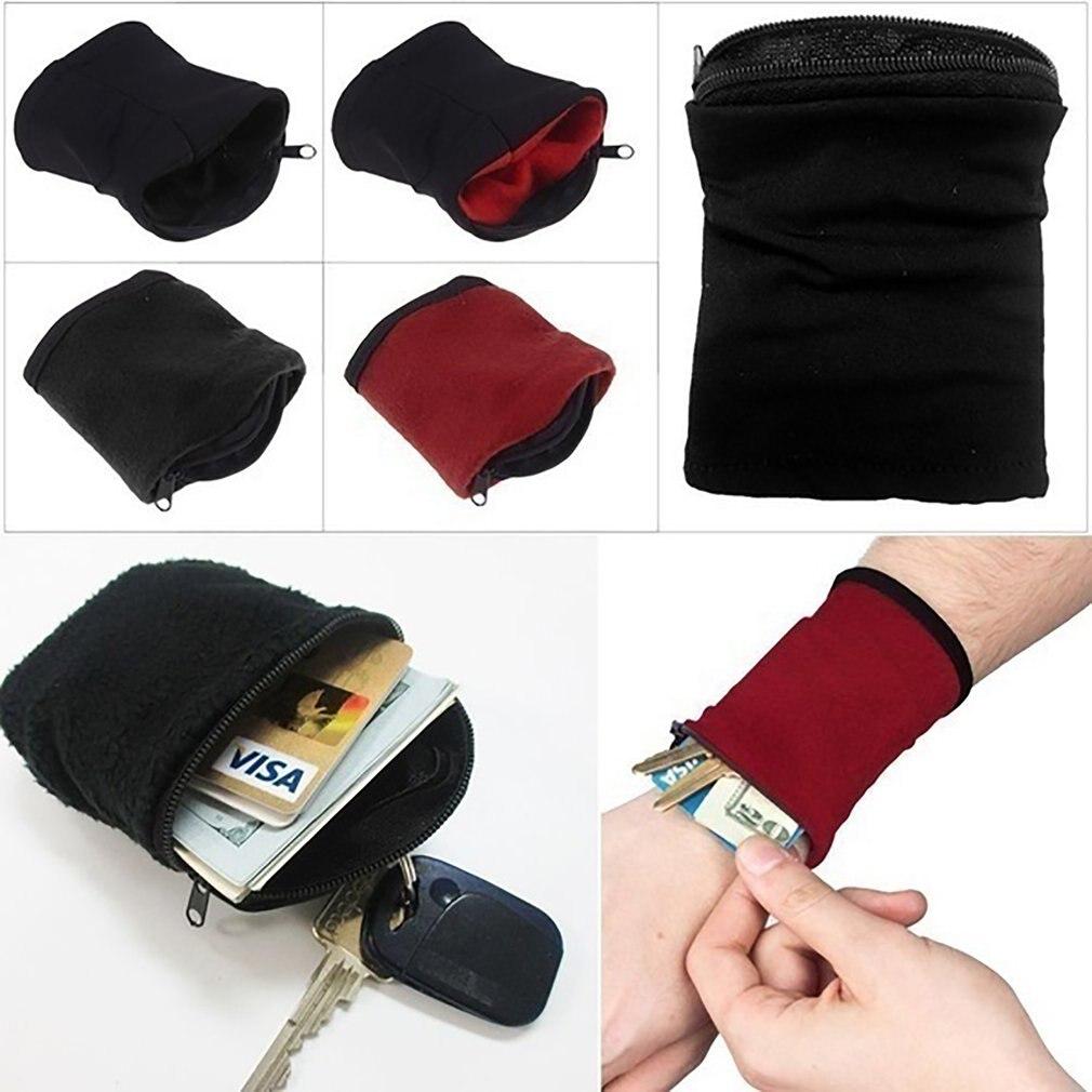 Men Women Wrist Wallet Pouch Band Zipper Running Travel Gym Cycling Safe Coin Purse Change Sport Bag