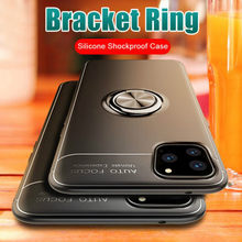 Luxury Magnetic Ring Soft Bumper Case On The For IPhone 11 Pro Max X XR XS Max 6 6s 7 8 Plus Phone Case Shockproof Case Cover(China)
