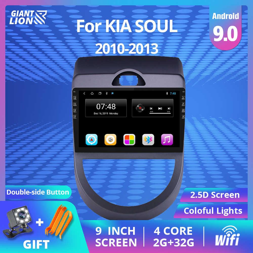 Auto Multimedia Video Speler 2 Din Android 9.0 Auto Radio Voor Kia Soul 2010 2011 2013 Radio Gps Navigatie Stereo bluetooth Dvd