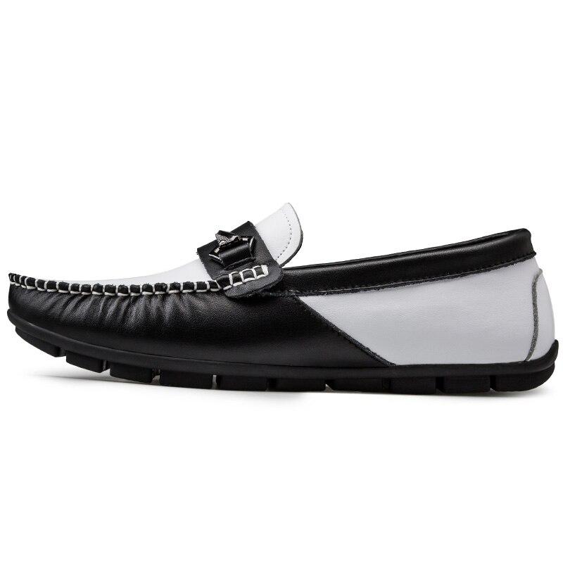 Luxe hommes mocassins chaussures de fête en cuir mocassin mariage sans lacet plat conduite bateau chaussures homme Gommino Zapatos 3 #15/15D50