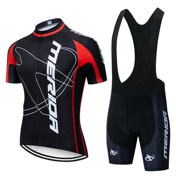 2020 MERIDAING Cycling Jersey Set Summer Mountain Bike Clothing Pro Bike Cycling Jersey Sportswear Suit Maillot Ropa Ciclismo