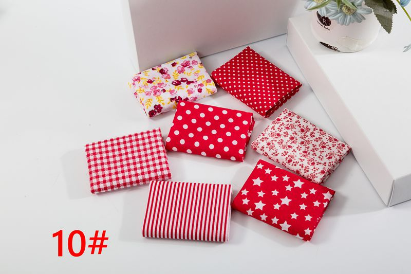 Ha8af6596020446079df659af3a8c081bL 25x25cm and 10x10cm Cotton Fabric Printed Cloth Sewing Quilting Fabrics for Patchwork Needlework DIY Handmade Accessories T7866