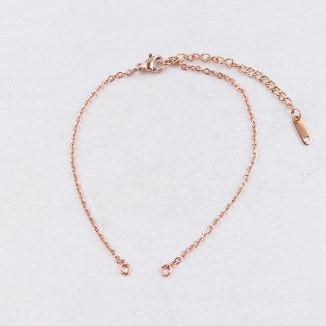 Κοσμήματα diy Μενταγιόν Βραχιόλια Ανοξείδωτα 2mm Πλάτος Ρυθμιζόμενη Αλυσίδα Της Κούβας
