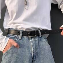 2021-ELEGZO moda cintura Unisex cinture in pelle PU tinta unita semplice cintura jeans casual