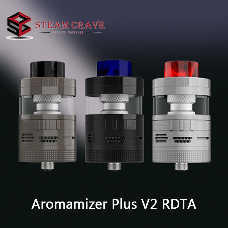 Original Steam Crave Aromamizer Plus V2 RDTA Tank 8.0ml/16.0ml Capacity Atomizer With 30mm Diameter Electronic Cigarette Vape