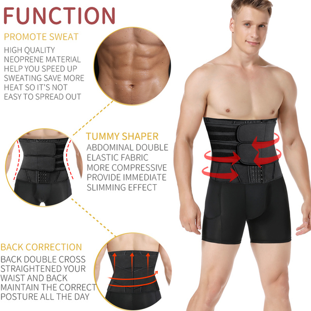 Mens Waist Trainer Belly Shapers Body Shaper Tummy Shapewear Abdomen Slim Girdle Weight Loss Promote Sweat Trimmer Belt Corset 1