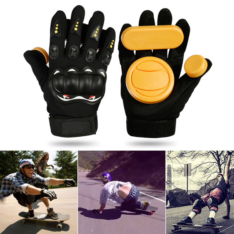 1pair Skateboard/Longboard Sliding FreeRide Gloves Replacement Palm Pucks Skateboard Brake Gloves