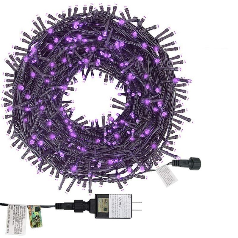String Lights,Outdoor Fairy Light Plug, Expandable Green Line Transparent Bulb, Mini Light, 8 Patterns, Christmas Wedding Decora
