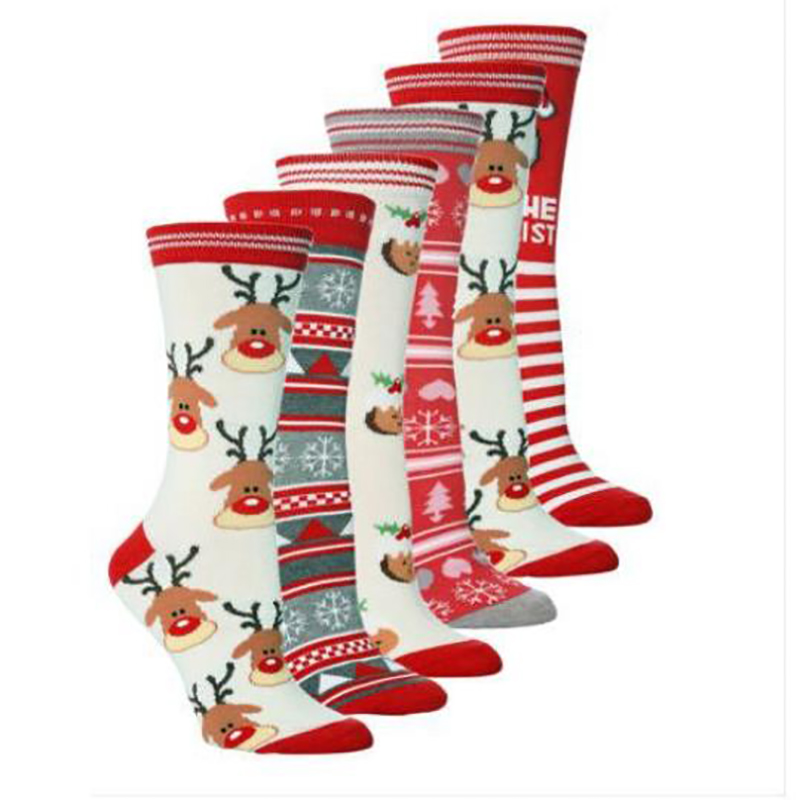 Cross-border European And American Hot Christmas Series New Elk Boys And Girls Stockings In The Tube Stockings .