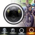 5,75 фара подходит для мотоцикла Sportster 883 XL1200 круглсветодиодный фары дальний свет ближний свет DRL для большинства мотоциклов