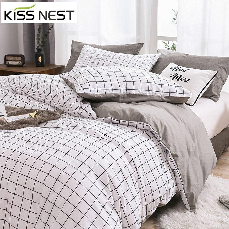 Pledy zwykły kolor100 % zestaw pościeli bawełnianej kołdra i poszewki na poduszki, łóżko-zestaw, rozmiar: Twin/Full/King/Queen/Single/Double
