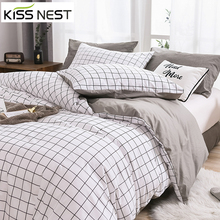 Plaids Plain Color100% Cotton Bedding Set Home Duvet Cover and Pillowcases,Bed Set,Size:Twin/Full/King/Queen/Single/Double