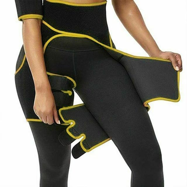 Neoprene Slim Thigh Trimmer Sweat Waist Trainer Leg Shapers Slender Slimming Belt Muscles Band Thigh Slimmer Wrap 3