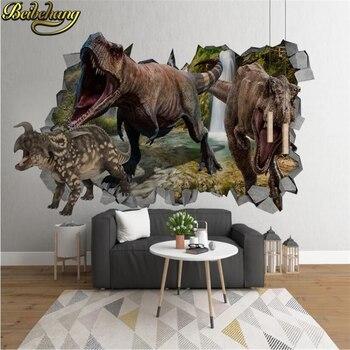 beibehang Custom Dinosaur childrens room Photo Wallpaper Living Room Bedding Landscape Wall Decor Embossed Paper