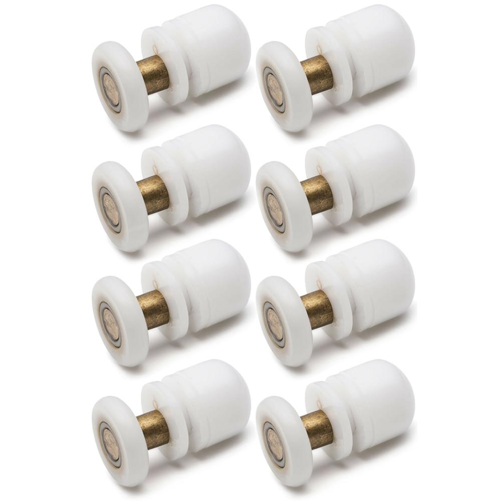 19/23mm/25mm/27mm Nylon Straight Plastic Single Pulley Runner Wheel Sliding Door Rollers For Shower Bathroom Cabin