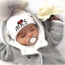 Хлопковые шапки для новорожденных, Детские помпоны, реквизит для фотосессии, кружки мистер и миссис, детские шапки, аксессуары для мальчика, шапочка для маленьких девочек, детские шапки