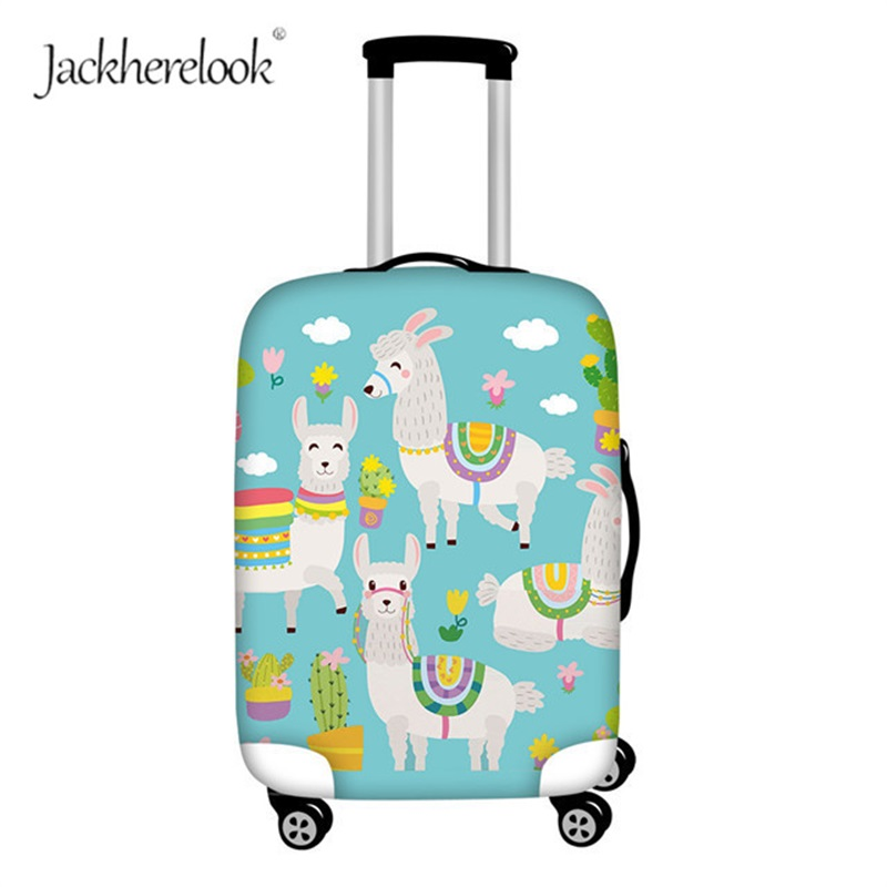 Jackherelook Alpaca Lama Suitcase Cover Bag Cute Alpacasso Animal Design Luggage Dustproof Bags Fashion Travel Accessorise Case