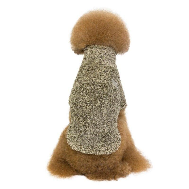 Зимняя теплая утолщенная кашемировая однотонная Одежда для питомцев