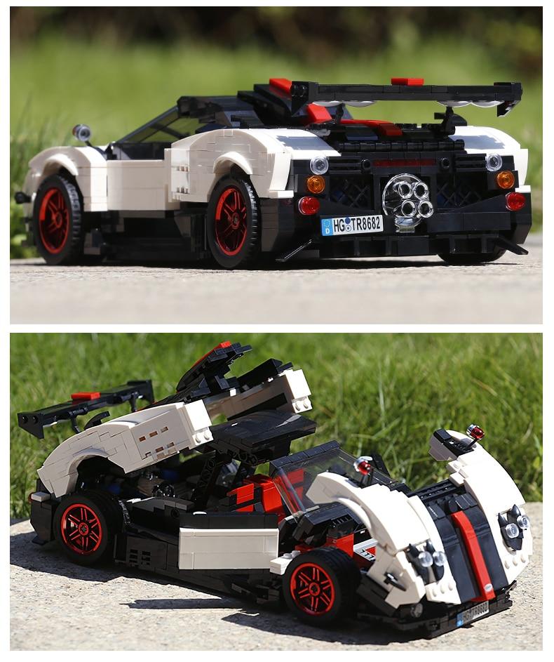 MOULD KING Technic Series Paganis Zonda Cinque Roadster Compatible 13105 Building Block  (960pcs) 5