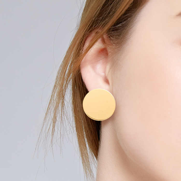 Ohrringe Für Frauen Mode Metall Geometrie Runde Moderne Gold Silber Charme Trend Sexy Strand Urlaub Stud Ohrringe Dangler Ohrring