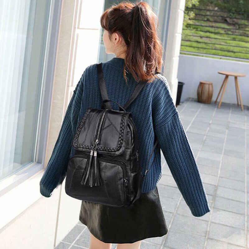 2019 ブランドミニマリズム女性のバックパック Pu レザー青年女性 Bagpack 美しいファッションガールカジュアルリュックサック女性のショルダーバッグ