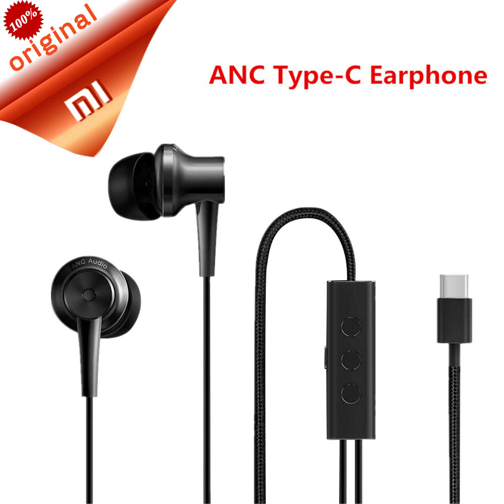 Original Xiaomi ANC Earphones USB Type C Noise Reduction Earpieces Wired Control Hybrid Earphone with Mic