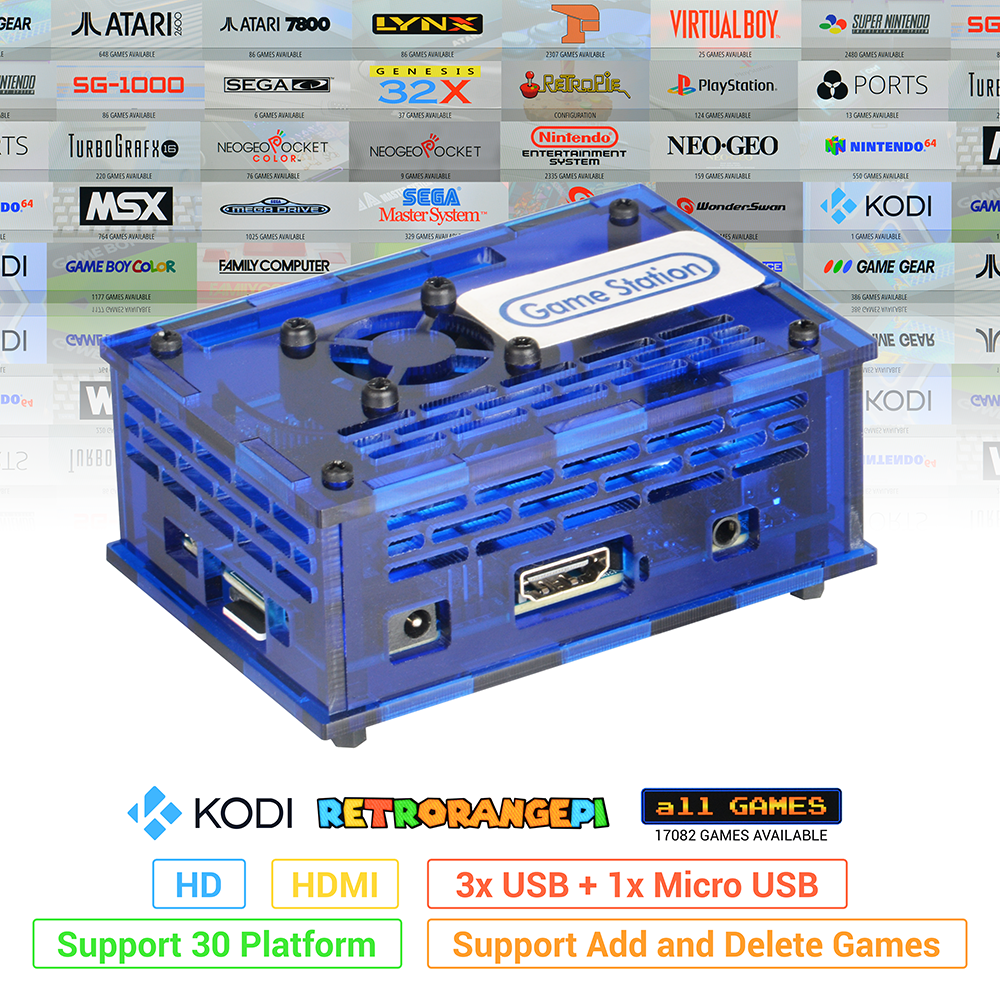 128GB RETRORANGEPI Game Station Arcade KODI DESKTOP MINI PC HDMI w/ 17000+ Games RETRO PIE SYSTEM KODI ARCADE FULL KIT image