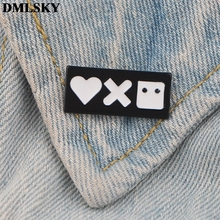 DMLSKY Love, Death & Robots Pins Enamel and Brooches Women Men Lapel Pin Backpack Badge Tie Hat Jewelry M3744