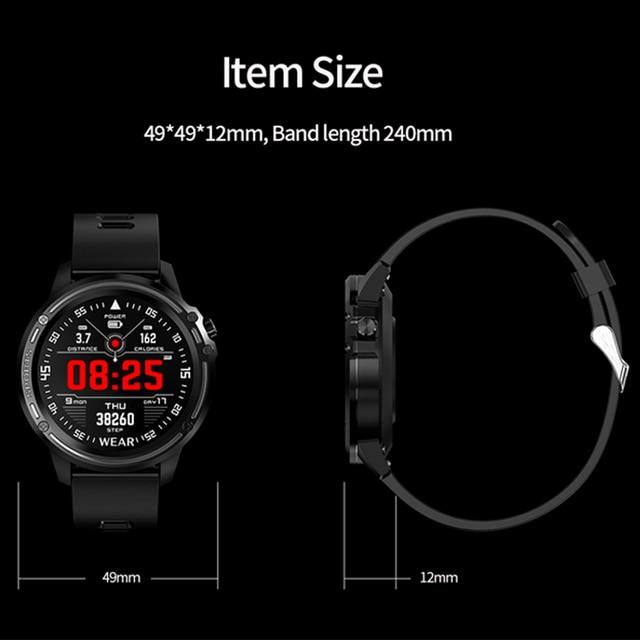 L8 Smart Watch Men IP68 Waterproof Reloj Hombre Mode SmartWatch with Blood Pressure Watches Sports Fitness Heart Rate Watch Man