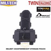 MILITECH TWINFALCONS TW Helm Gegengewicht Batterie Lagerung Pouch Lagerung Pouch Taktische Militär NVG Gewicht Zähler Tasche Tasche