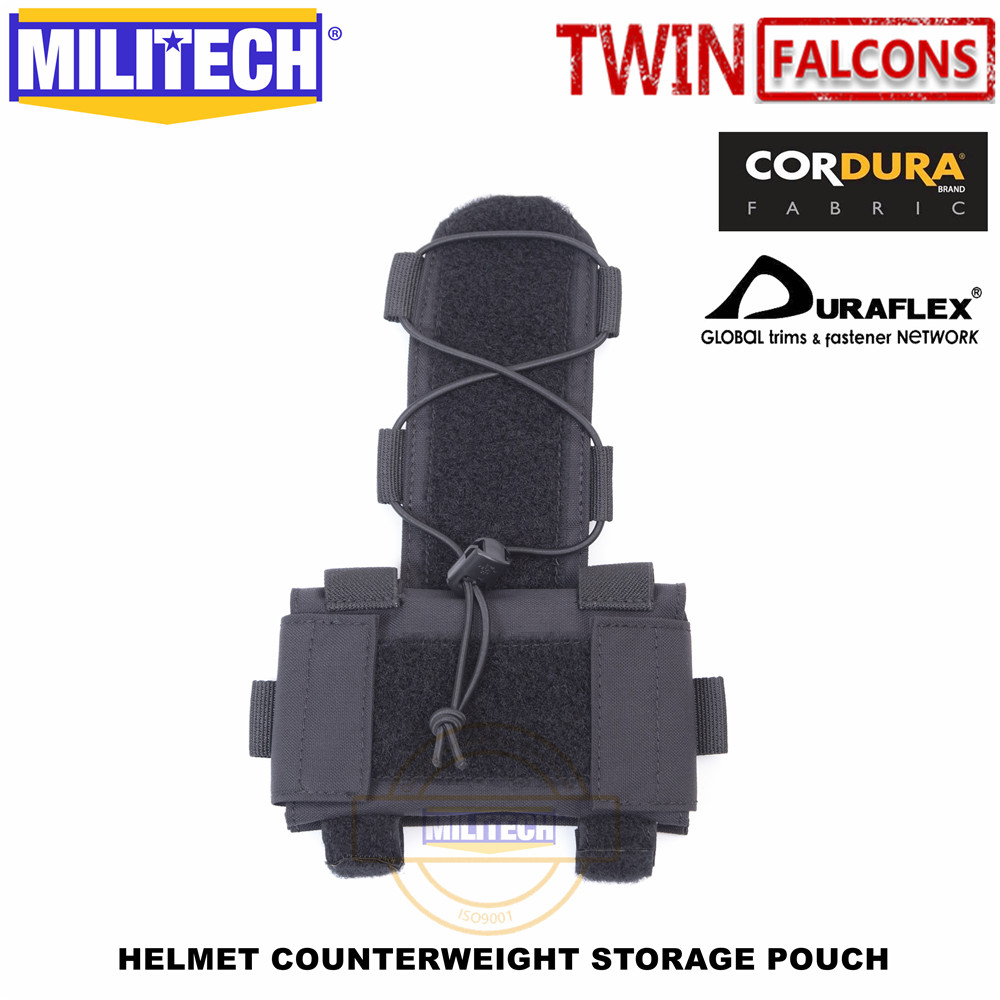 MILITECH TWINFALCONS TW Helmet Counterweight Storage Pouch TN VC Storage Pouch Tactical Military NVG Weight Counter Pouch Bag