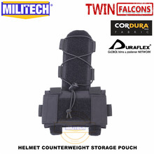 MILITECH TWINFALCONS TW קסדת משקל נגד סוללה אחסון פאוץ אחסון פאוץ טקטי צבאי NVG משקל דלפק פאוץ תיק