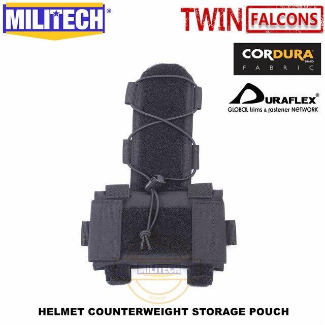 Militech twinfalcons twヘルメットカウンターウェイトバッテリー収納ポーチ収納ポーチ戦術的な軍事nvg重量カウンターポーチバッグ