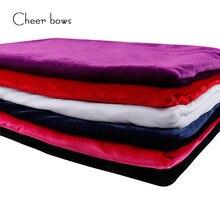Cheerbows 50*150cm tecido de veludo sólido para o ofício de veludo tecidos de pano de algodão diy arcos casa têxtil vestuário decorativo suprimentos
