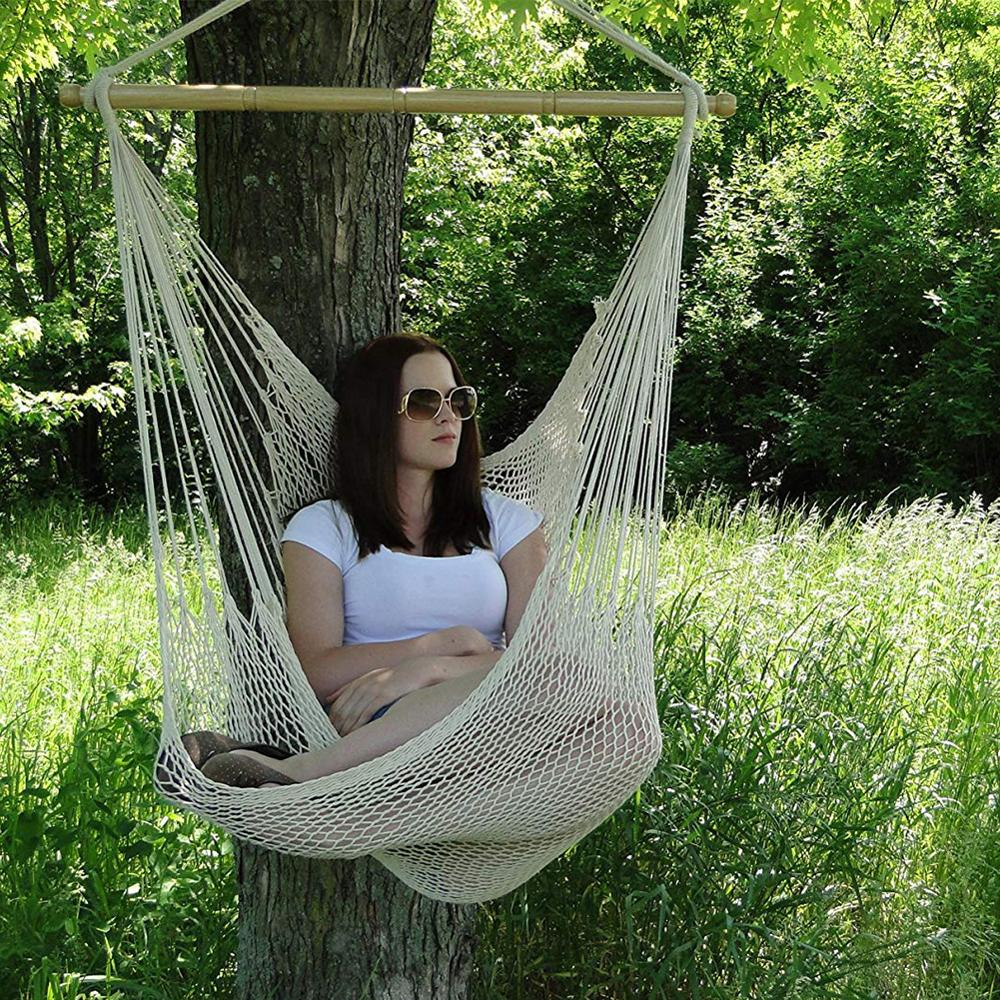Hammock Chair Indoor Outdoor Swing Chair Seat Bedroom Hanging Chair For Child Adult Swinging Single Camping Hammock