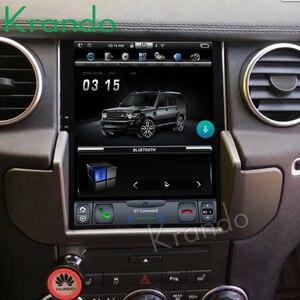 Автомобильный радиоприемник Krando, Android 4,4, 10,4 дюйма, вертикальный сенсорный экран Tesla, плеер для Land Rover Discovery 4 2011-2016, система gps навигации