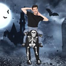 Skeleton Costume Magic Pants COS Party Stage for Halloween