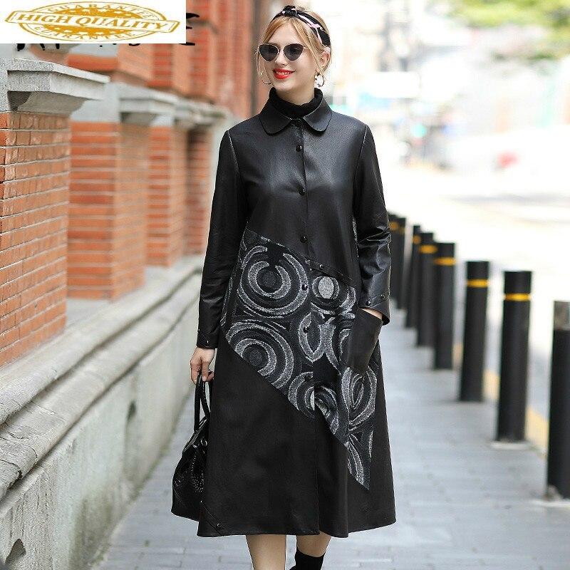 Real Leather Jacket Women Clothes 2019 Sheepskin Coat Genuine Leather Jacket Women Vintage Windbreaker Veste Femme SM506 YY2153