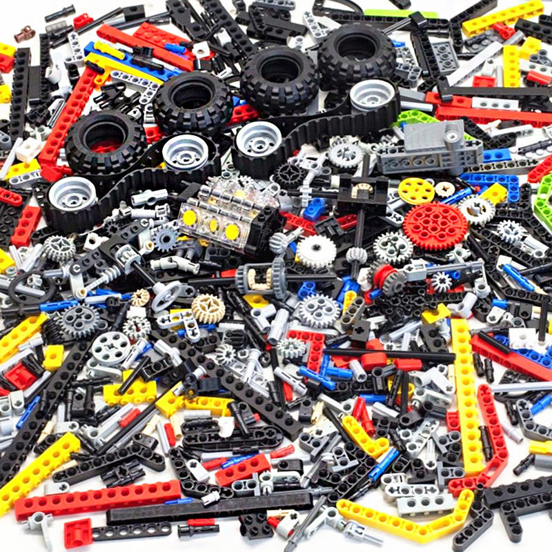 250 г случайные объемные части модели DIY креативные строительные блоки серии Technic кирпичи обучающие игрушки для детей Подарки