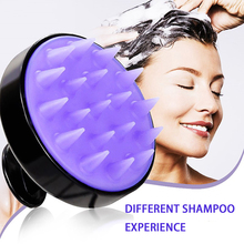 1PCS Hair Massage Brush Silicone Head Shampoo Scalp Hair Washing Scalp