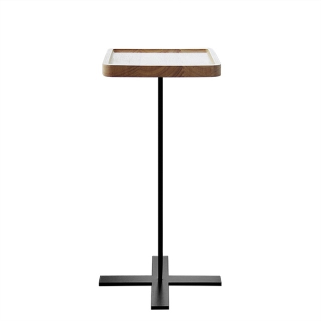 Square Round Coffee Table / Rubber Wood Iron Stand / Round Table / Side Table / Corner Table / Nordic Furniture Bedside Table
