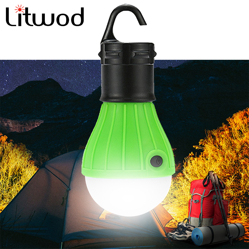 Camping Night Light Mini Portable Lantern Tent LED Bulb Emergency Lamp Waterproof Hanging Hook For 4 Colors Switch 12V DC Round